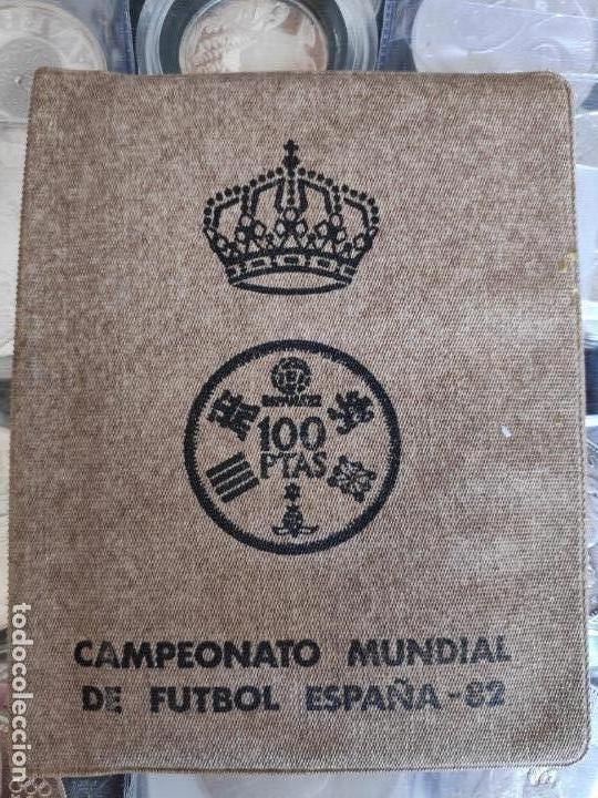 ESPAÑA CARTERA ANUAL 1980. COMPLETA SERIE NUMISMÁTICA MUNDIAL 82' (AÑO 1980 ESTRELLAS *80*)FILABO (Numismática - España Modernas y Contemporáneas - Colecciones y Lotes de conjunto)