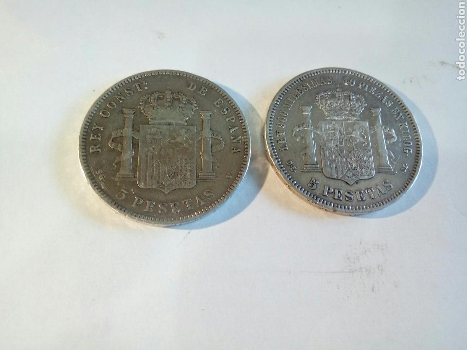 LOTE DE 2 MONEDAS DE PLATA (Numismática - España Modernas y Contemporáneas - Colecciones y Lotes de conjunto)