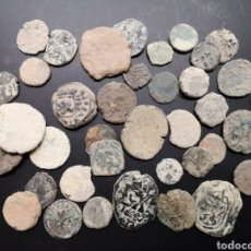 Monedas de España: GRAN LOTE DE 39 MONEDAS A LIMPIAR Y CATALOGAR DE TODAS ÉPOCAS. Lote 171620733