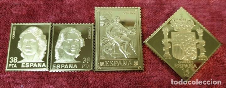 Monedas de España: COLECCIÓN DE SELLOS LA CASA DE BORBÓN. PLATA 925 CHAPADA EN ORO. SIGLO XX. - Foto 4 - 171657367