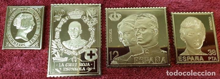 Monedas de España: COLECCIÓN DE SELLOS LA CASA DE BORBÓN. PLATA 925 CHAPADA EN ORO. SIGLO XX. - Foto 5 - 171657367