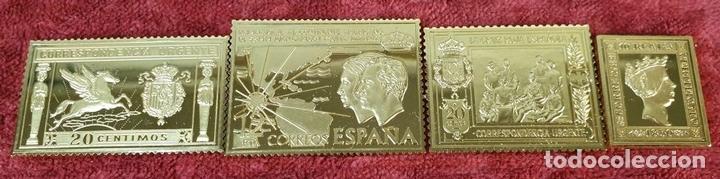 Monedas de España: COLECCIÓN DE SELLOS LA CASA DE BORBÓN. PLATA 925 CHAPADA EN ORO. SIGLO XX. - Foto 10 - 171657367