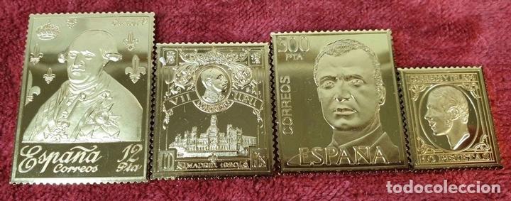 Monedas de España: COLECCIÓN DE SELLOS LA CASA DE BORBÓN. PLATA 925 CHAPADA EN ORO. SIGLO XX. - Foto 11 - 171657367