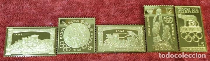Monedas de España: COLECCIÓN DE SELLOS DE ATENAS A BARCELONA. PLATA 925 CHAPADA EN ORO. SIGLO XX. - Foto 3 - 171663679