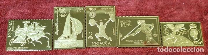 Monedas de España: COLECCIÓN DE SELLOS DE ATENAS A BARCELONA. PLATA 925 CHAPADA EN ORO. SIGLO XX. - Foto 6 - 171663679