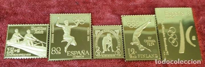 Monedas de España: COLECCIÓN DE SELLOS DE ATENAS A BARCELONA. PLATA 925 CHAPADA EN ORO. SIGLO XX. - Foto 9 - 171663679