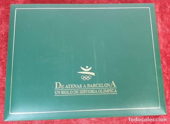 Monedas de España: COLECCIÓN DE SELLOS DE ATENAS A BARCELONA. PLATA 925 CHAPADA EN ORO. SIGLO XX. - Foto 12 - 171663679