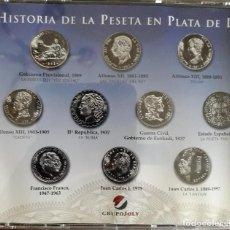 Monedas de España: ESTUCHE DE COLECCIÓN HISTORIA DE LA PESETA EN PLATA.. Lote 171806608