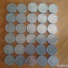 Monedas de España: LOTE DE 6000 PESETAS EN MONEDAS DE 200 PESETAS DE LAS ANTIGUAS. Lote 173459657