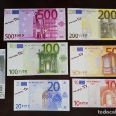 Moedas de Espanha: LOTE DE 7 REPLICAS DE LOS BILLETES DE EURO.. Lote 211952123