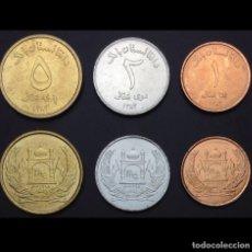 Monedas de España: AFGANISTÁN, 1 + 2 + 5 AFGHANIS, UNC. Lote 174341608
