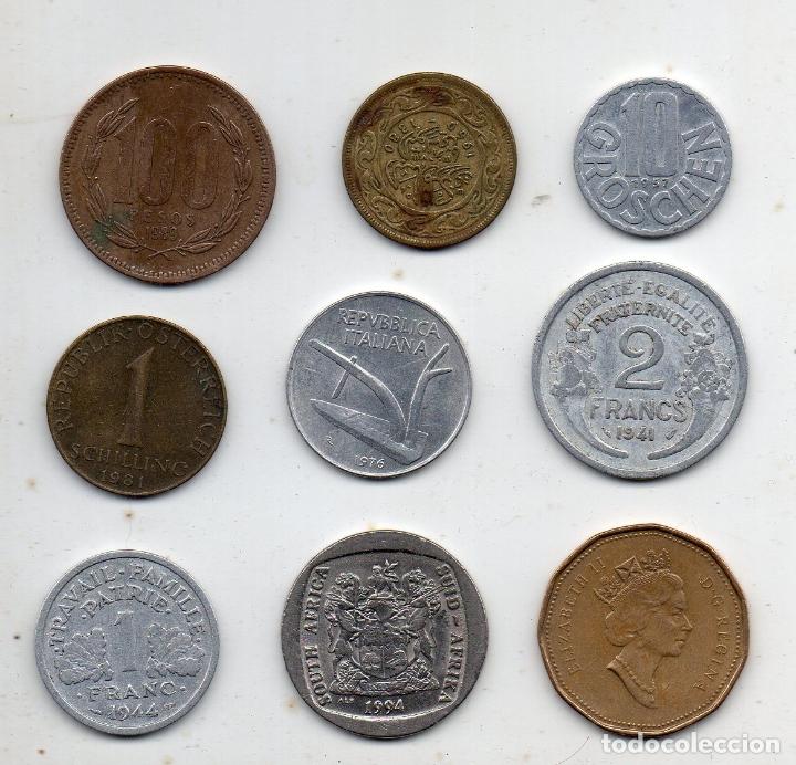 Monedas de España: Lote de 9 monedas de diferentes paises. - Foto 2 - 174576800
