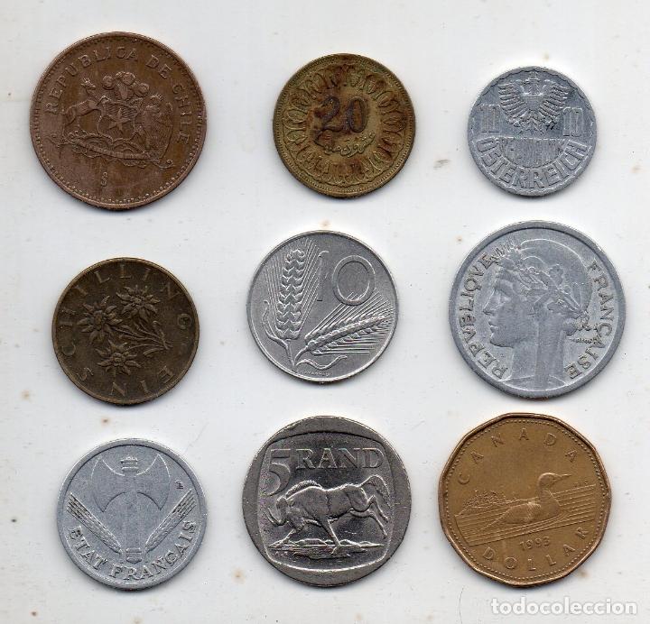 LOTE DE 9 MONEDAS DE DIFERENTES PAISES. (Numismática - España Modernas y Contemporáneas - Colecciones y Lotes de conjunto)