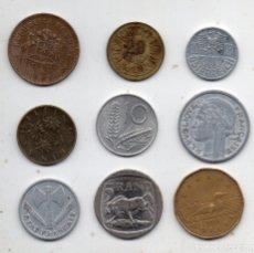 Monedas de España: LOTE DE 9 MONEDAS DE DIFERENTES PAISES. . Lote 174576800
