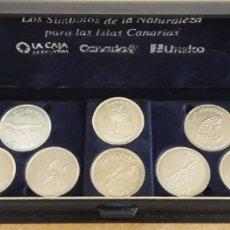Monedas de España: MONEDAS CONMEMORATIVAS SÍMBOLOS DE LA NATURALEZA ISLAS CANARIAS. Lote 174923948