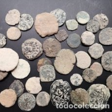 Monedas de España: GRAN LOTE DE 39 MONEDAS A LIMPIAR Y CATALOGAR DE TODAS ÉPOCAS. Lote 175264673