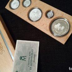 Monedas de España: SERIE V CENTENARIO DESCUBRIMIENTO AMÉRICA PLATA. Lote 176086412