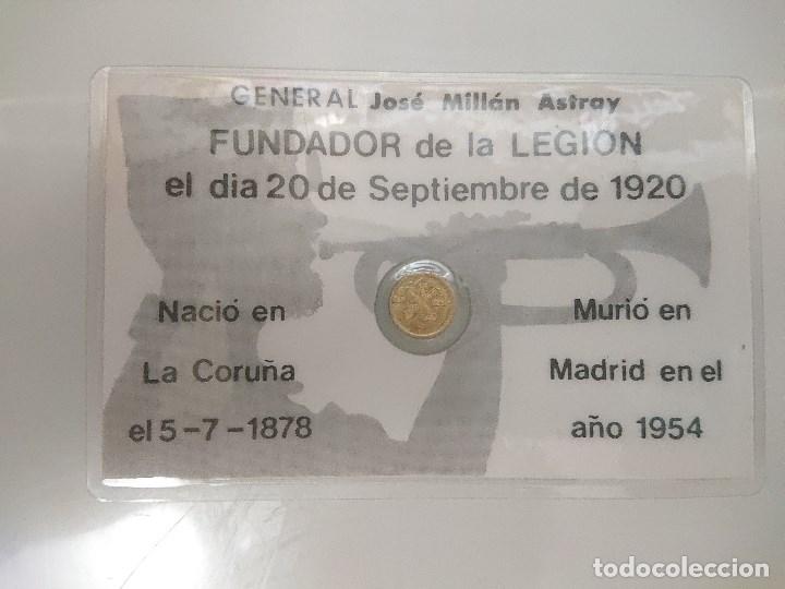 Monedas de España: MONEDA PEQUEÑA DE GENERAL JOSE MILLAN ASTRAY FUNDADOR DE LA LEGION, LEER Descipcion - Foto 2 - 176533879