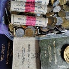 Monedas de España: LOTE DE MONEDAS ESPAÑOLAS MEDALLA DEL REY HEMERITO 3 ROYOS DE MONEDAS CARTERA NUMIMASTICA. Lote 177139040