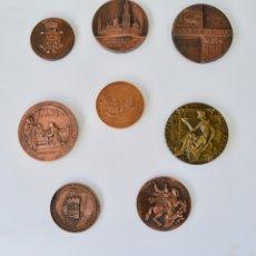 Monedas de España: LOTE DE 8 MEDALLAS CONMEMORATIVAS. UNIVERSIDAD, PILAR, AGRUPACIÓN ARTÍSTICA, AMÉRICA,ZARAGOZA,ARAGÓN. Lote 177940885