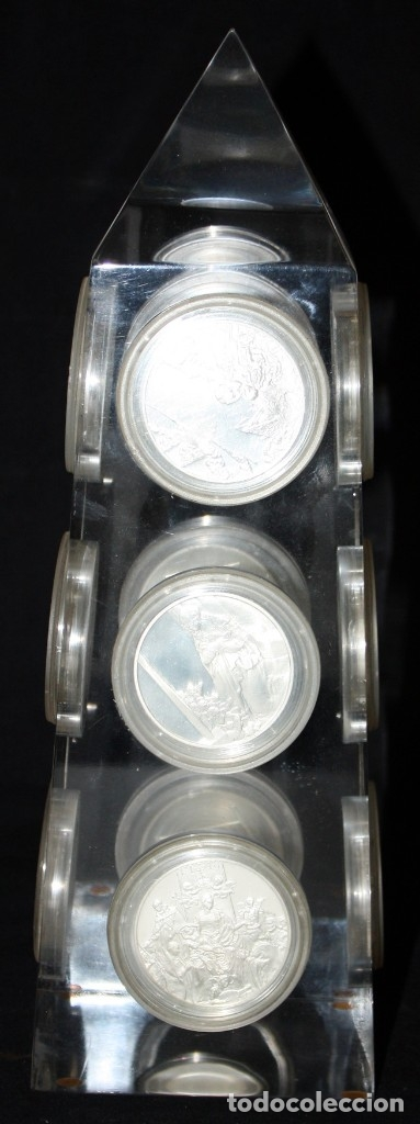 Monedas de España: COLECCION DE 12 MEDALLAS EN PLATA DE 999 M. DE ALBERTO DURERO CON SU EXPOSITOR DE METACRILATO - Foto 2 - 178863717