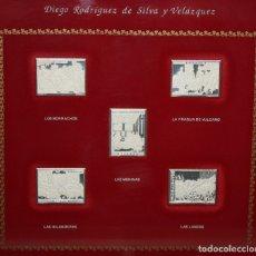 Monedas de España: COLECCION DE LAS OBRAS MAESTRAS DE VELAZQUEZ. 5 SELLOS EN PLATA PURA DE 999 M. EDICION LIMITADA. Lote 203773676