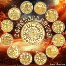 Monedas de España: LOTE 12 MONEDAS CONSTELACIONES - BAÑADA EN ORO 24KT - CAPSULA - EDICION LIMITADA. Lote 179050037