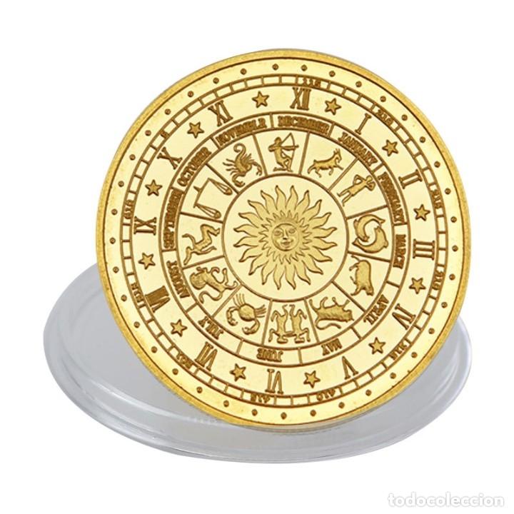 Monedas de España: LOTE 12 MONEDAS CONSTELACIONES - BAÑADA EN ORO 24KT - CAPSULA - EDICION LIMITADA - Foto 3 - 179050037