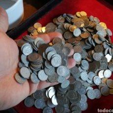Monedas de España: MÁS DE MEDIO KILO (574 GR) DE 10 CÉNTIMOS DE FRANCO. Lote 179551537