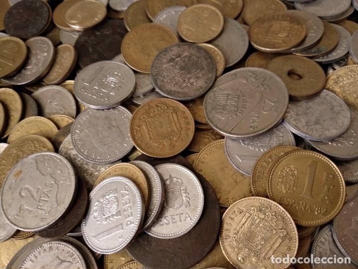 Monedas de España: Lote de 522 monedas españolas o 1,3 kg variadas Juan Carlos I, Franco, Alfonso XIII, Gobierno Prob. - Foto 2 - 180488970