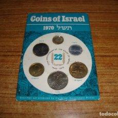 Monedas de España: CARTERA MONEDAS 22 ANIVERSARIO DEL ESTADO DE ISRAEL 1970. Lote 181162858