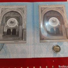 Monedas de España: PATRIMONIO MUNDIAL ALHAMBRA DE GRANADA EDICIÓN CONJUNTA 5.000 UNIDADES CORREOS HOJA BLOQUE Y PRUEBA. Lote 181494891