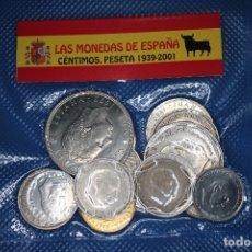 Monedas de España: ESPAÑA, 16 MONEDAS DESDE EL ESTADO ESPAÑOL HASTA EL 2001. CIRCULADAS.. Lote 182705105