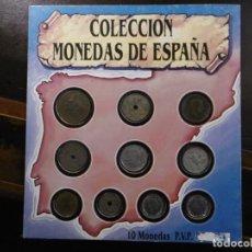 Monedas de España: COLECCIÓN MONEDAS DE ESPAÑA. 10 MONEDAS.. Lote 183637748