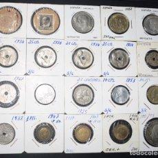 Monedas de España: LOTE 20 MONEDAS ESPAÑOLAS - AÑOS I CONSERVACIONES MUY INTERESANTES - VER FOTOGRAFÍAS. Lote 183704431
