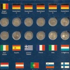 Monedas de España: RARA CARPETA MONEDAS DE 2 € DEL TRATADO ROMA 2007 12 PAÍSES MÁS ALEMANIA 5 LETRAS INCLUIDO SLOVENIA. Lote 184721500