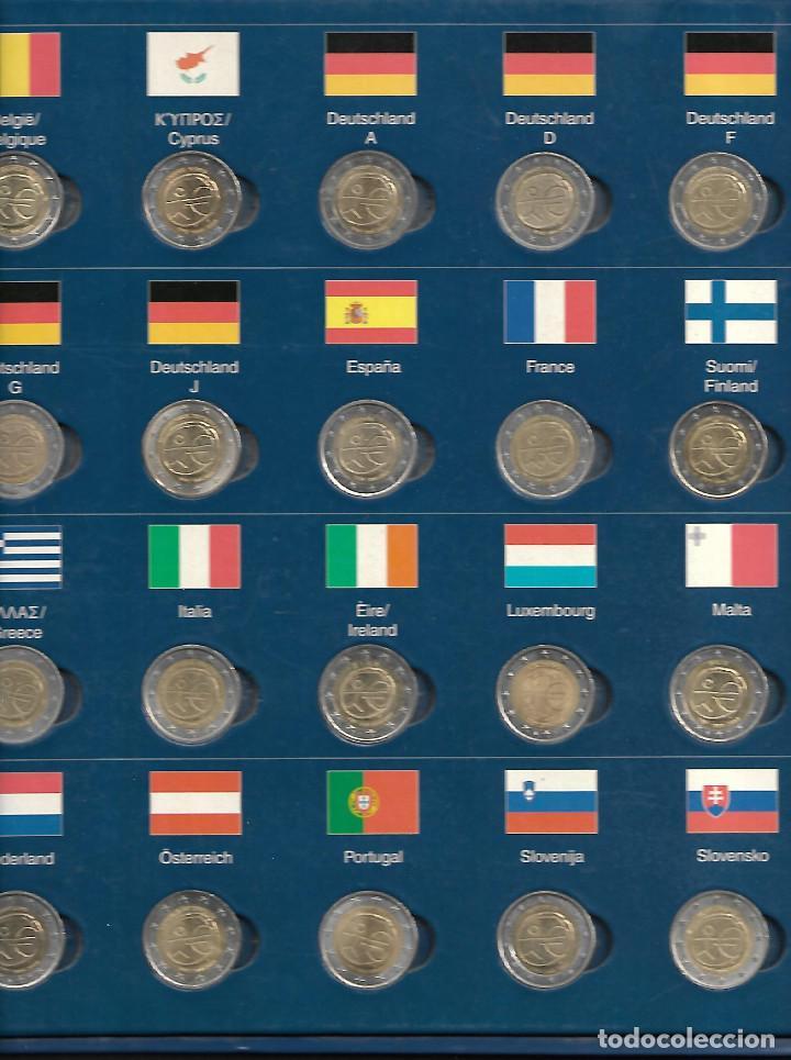 RARA CARPETA MONEDAS DE 2 € DEL TRATADO 10 AÑOS DE LA UNION EUROPEA MÁS ALEMANIA 5 LETRAS (Numismática - España Modernas y Contemporáneas - Colecciones y Lotes de conjunto)