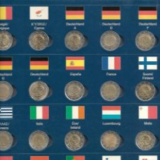 Monedas de España: RARA CARPETA MONEDAS DE 2 € DEL TRATADO 10 AÑOS DE LA UNION EUROPEA MÁS ALEMANIA 5 LETRAS . Lote 184723212