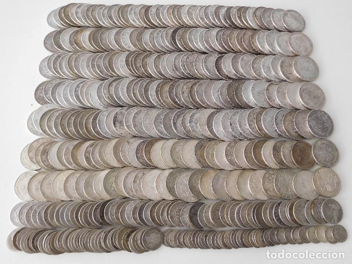 LOTE DE 392 MONEDAS DE PLATA ESPAÑOLAS 6,7 KILOS (Numismática - España Modernas y Contemporáneas - Colecciones y Lotes de conjunto)