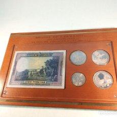 Monedas de España: ESTUCHE CONMEMORATIVO DEL 450 ANIVERSARIO DE LA LENGUA ESPAÑOLA EN EL MUNDO. 1547-1997. PLATA PURA.. Lote 189303875