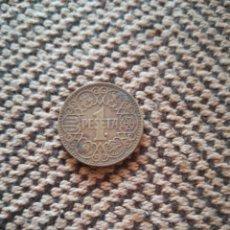 Monedas de España: 1 PESETA ANTIGUO ESPAÑA 1944 CON PÓLIPO DEL MAR. Lote 190529677