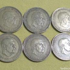 Monedas de España: LOTE 6 PESETAS 1966 FRANCO. Lote 191312201