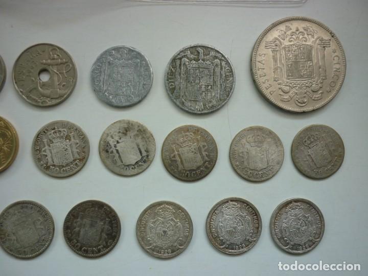 Monedas de España: Pequeña colección de monedas españolas, que data de 1880 a 1980. - Foto 4 - 194203467