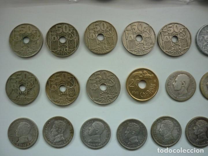 Monedas de España: Pequeña colección de monedas españolas, que data de 1880 a 1980. - Foto 7 - 194203467
