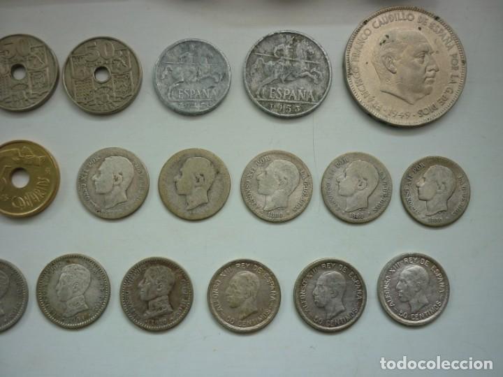 Monedas de España: Pequeña colección de monedas españolas, que data de 1880 a 1980. - Foto 8 - 194203467