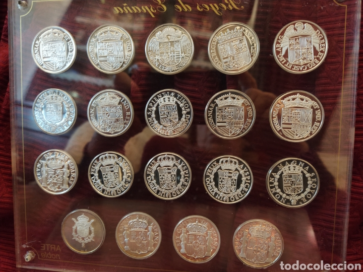 Monedas de España: 19 más monedas en plata de ley. Representa a los reyes de España. - Foto 3 - 194253361