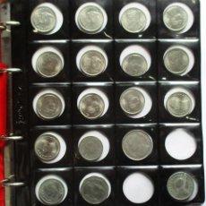 Monedas de España: COLECCION CON 245 MONEDAS EXTRANJERAS, MONTADA EN ALBUM PARDO. LOTE 2316. Lote 194667768