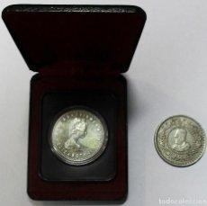 Monedas de España: CONJUNTO DE DOS MONEDAS DE PLATA: CANADA 1 DOLLAR DE 1978 Y MARRUECOS 500 FRANCOS 1956. LOTE 2318. Lote 194701337