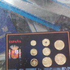 Monedas de España: SET LAS ÚLTIMAS PESETAS BAÑADAS EN ORO DE 24 QUILATES. Lote 194716043