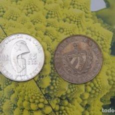 Monedas de España: 2 MONEDAS DE CUBA, 1 EN PLATA Y 1 CUPRO CENTENARIO MARTÍ 1953 Y 1962. Lote 195028598